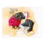 Fat hippo post card