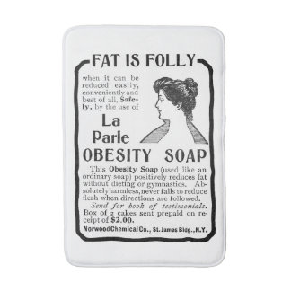 Fat Is Folly Vintage Bath Mat