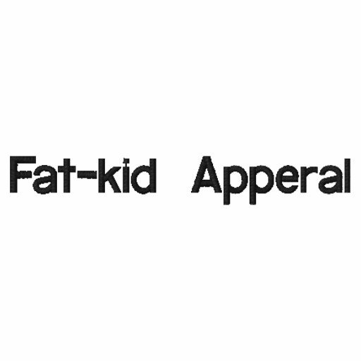 Fat-kid Apperal Embroidered Shirt