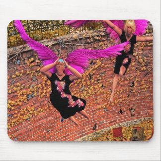 Fat ladies like to fly too mouse mats