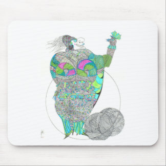Fat Lady With A Fan Mouse Pads