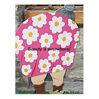 fat lady's butt postcard