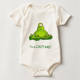 Fat meditating frog baby bodysuit