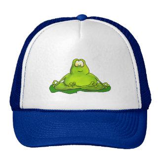 Fat meditating frog cap