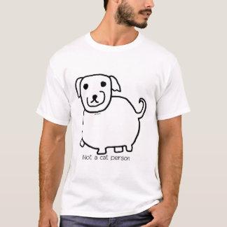 "Fat ""Not a Cat Person"" Dog T-Shirt"