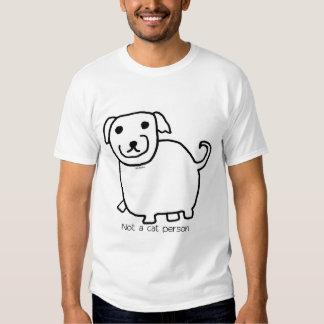 "Fat ""Not a Cat Person"" Dog Tee Shirt"