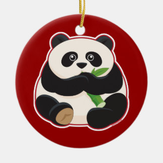 Fat Panda Christmas Ornament