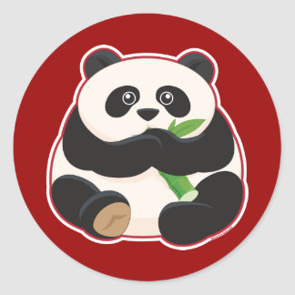 Fat Panda Classic Round Sticker