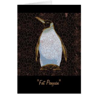 Fat Penguin Greeting Card