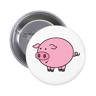 Fat Pig 6 Cm Round Badge