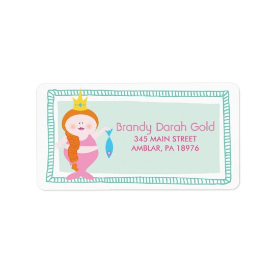 FAT PINK MERMAID Return Address Lable Label