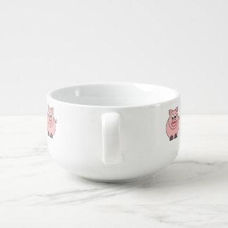 Fat Pink PIg Soup Mug