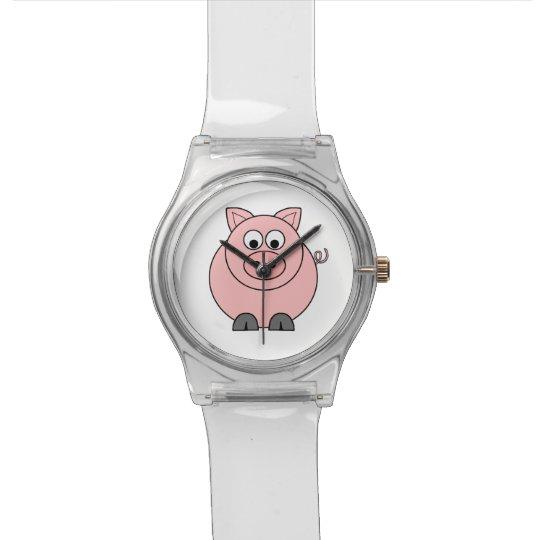 Fat Pink Pig Watch