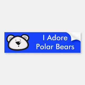 Fat Polar Bear Bumper Sticker