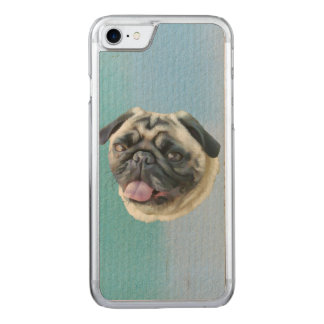 Fat Pug Portrait Carved iPhone 8/7 Case