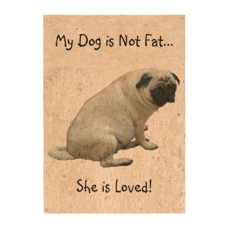 Fat Pug Cork Paper Prints