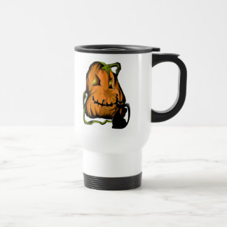 Fat Pumpkin and Black Kitty Mugs