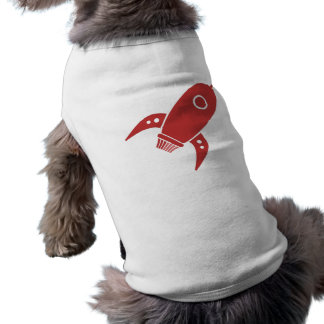 Fat Retro Rocket Ship Red Shirt