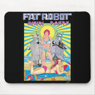 Fat Robot Bikini Party movie poster mouse pad