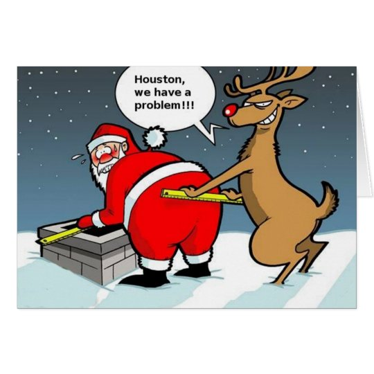 Fat Santa Christmas Card