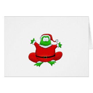 Fat Santa Frog Card