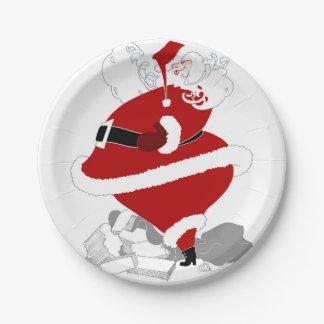 Fat Santa Paper Plate