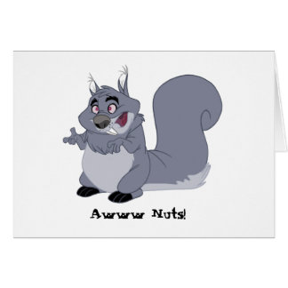 Fat Squirrel Belated Birthday Card