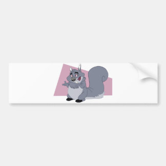 Fat Squirrel Bumper Sticker
