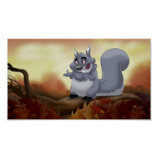 Fat Squirrel Print
