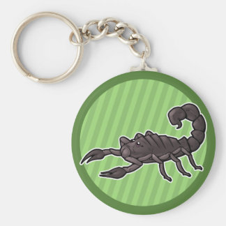 Fat Tailed Scorpion Basic Round Button Key Ring