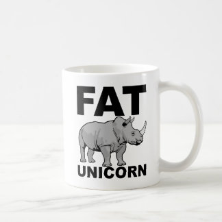 Fat Unicorn Rhino Funny Mug