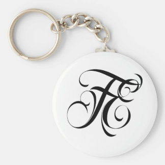Fatal Endeavors Clothing & Accessories Brand LOGO Basic Round Button Key Ring
