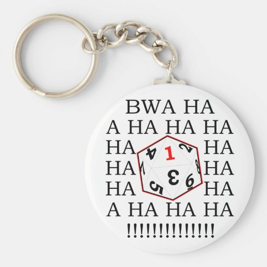 Fatal Roll Basic Round Button Key Ring
