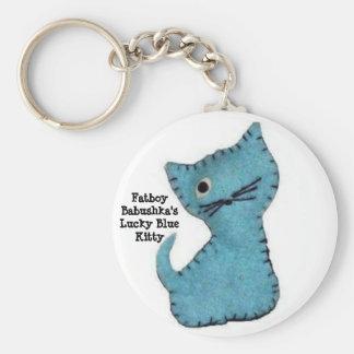 Fatboy Babushka's Lucky Blue Kitty Key Ring