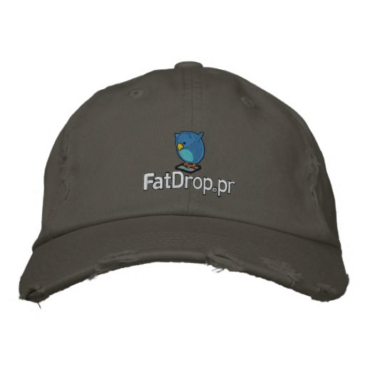 FatDrop.pr Hat Embroidered Distressed Baseball Cap