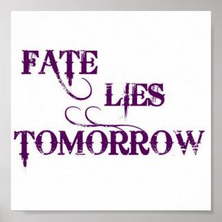FATE LIES TOMORROW POSTER