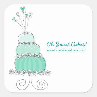 fatfatin Aqua Wedding Cake Business Sticker