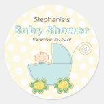fatfatin Baby Boy & Pram Baby Shower Stickers