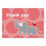 fatfatin Cartoon Rhino Thank You Custom Card