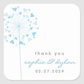 fatfatin Dandelions Love 01 Wedding Sticker Square Sticker