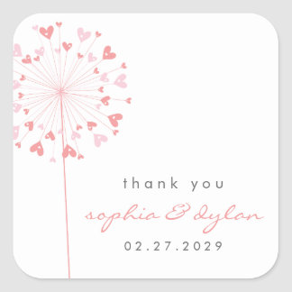 fatfatin Dandelions Love 02 Wedding Sticker