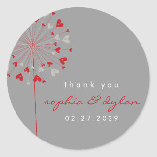 fatfatin Dandelions Love 03 Thank You Sticker