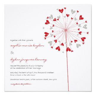 fatfatin Dandelions Love 03 Wedding Invitation Personalized Invite