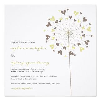 dandelion wedding invitations 500 dandelion wedding invites