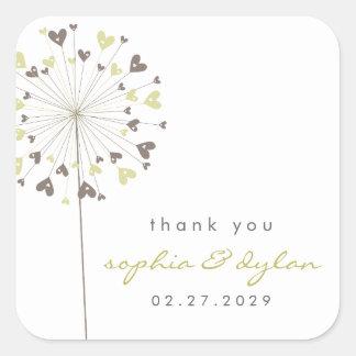 fatfatin Dandelions Love 04 Wedding Sticker