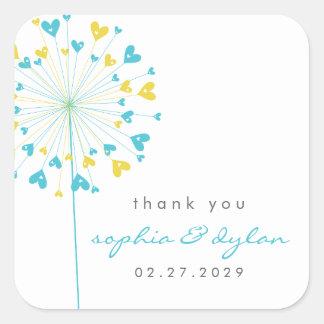 fatfatin Dandelions Love 06 Wedding Sticker