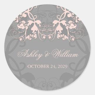 fatfatin Floral Flourish Baby Pink Wedding Sticker