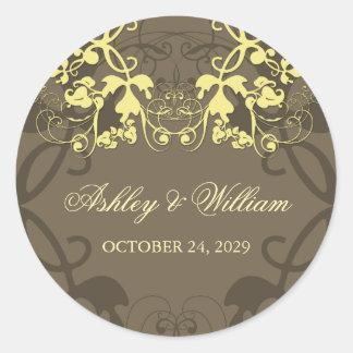 fatfatin Floral Flourish Butter Wedding Sticker