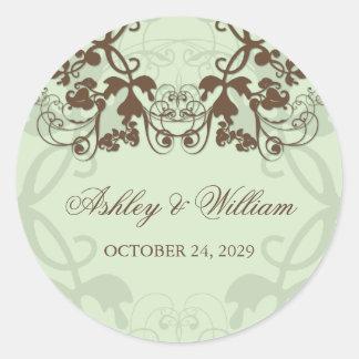 fatfatin Floral Flourish Coffee Wedding Sticker