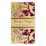 fatfatin Floral Flourish Plum Purple Profile Card